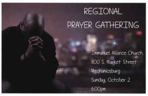 Regional Prayer Gathering @ Immanuel Church | Mechanicsburg | Pennsylvania | United States